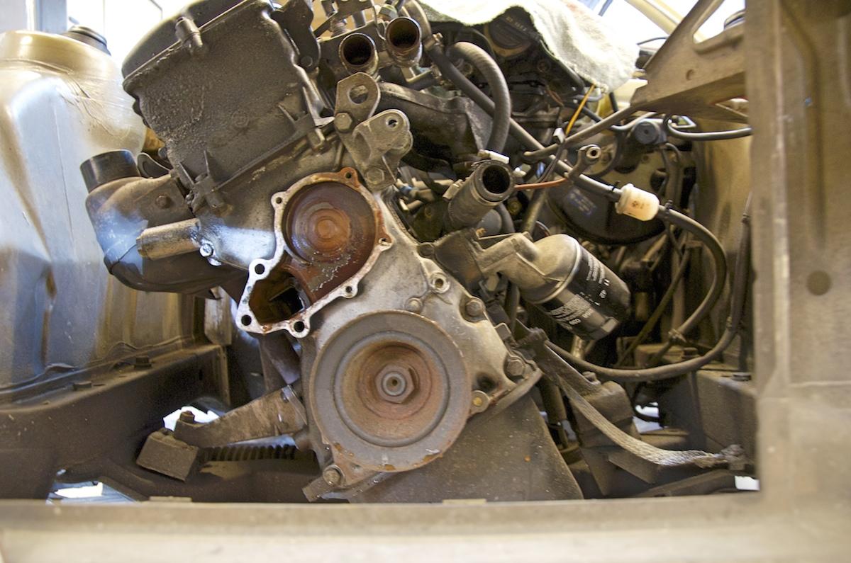 Motor ohne Kühlmittelpumpe