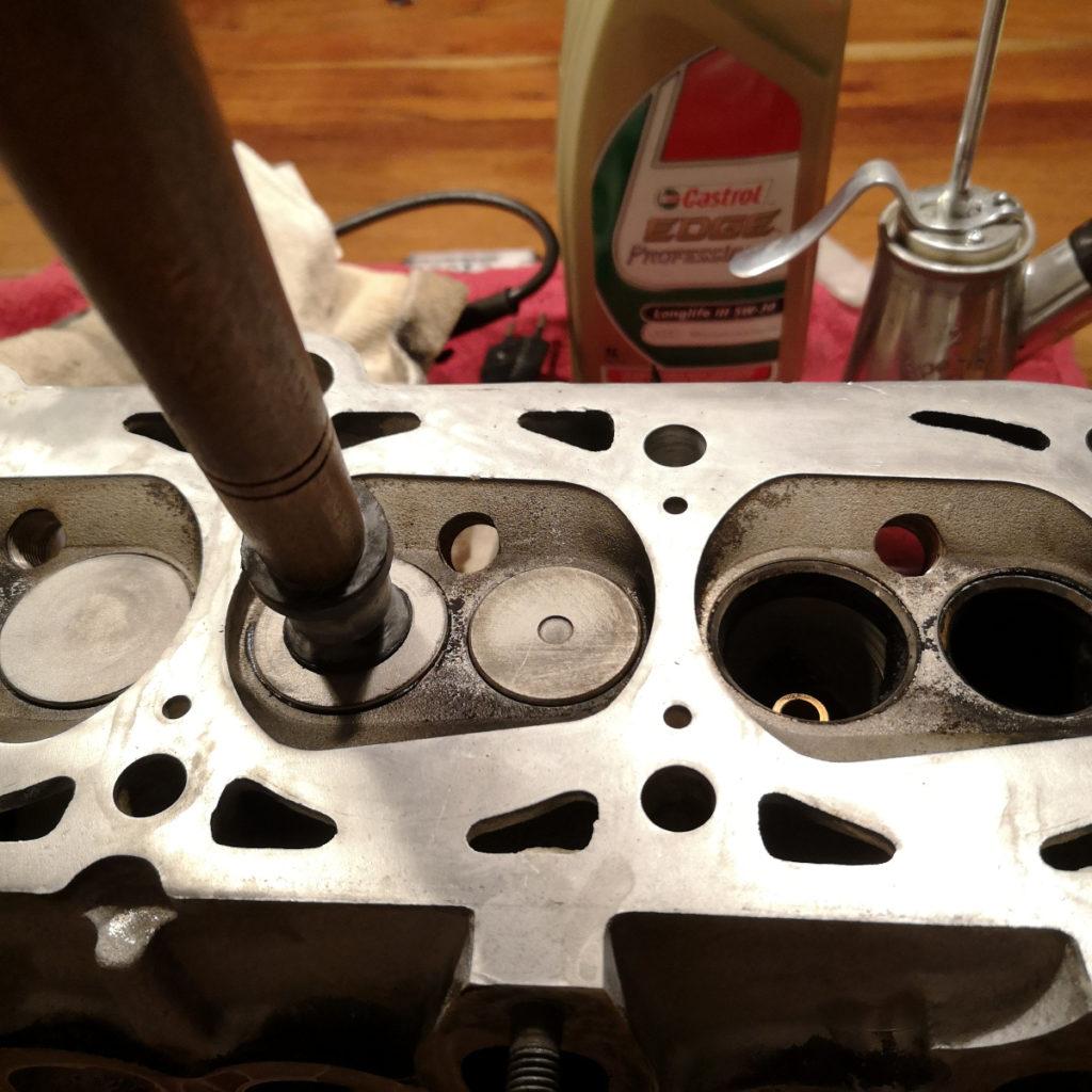 Einzelteile Zylinderkopf Audi PP Motor